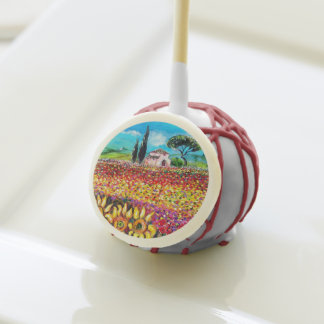 FLORA IN TUSCANY/ Fields ,Poppies and Sunflowers Cake Pops