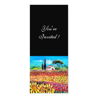 FLORA IN TUSCANY/ Fields ,Poppies and Sunflowers Invite