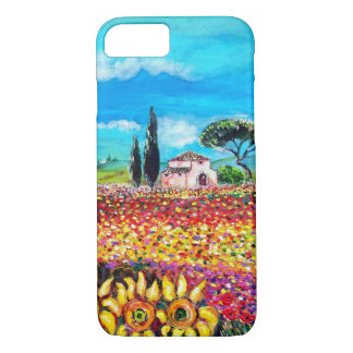 FLORA IN TUSCANY/ Fields ,Poppies and Sunflowers iPhone 7 Case