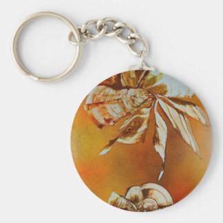 Flora Insecta Basic Round Button Keychain