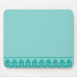 Flora Mousepad-Teal/Teal Mouse Pad