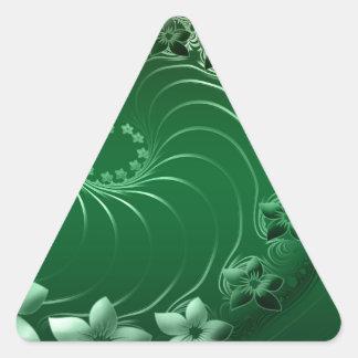 Flora Nature Color Triangle Sticker