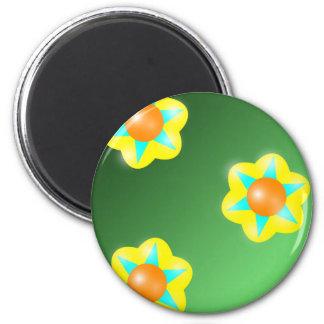 Flora nea imán redondo 5 cm