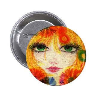 Flora Pinback Button