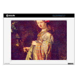 Flora (portrait of Saskia as Flora) by Rembrandt Decal For Acer Chromebook