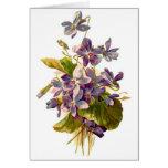 Flora púrpura tarjeta de felicitación