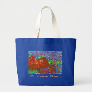 Flora Red Canvas Bags