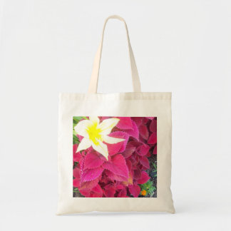 Flora rosada de Kansas City Bolsa Tela Barata