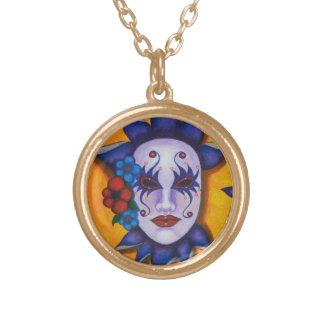 Flora Round Pendant Necklace
