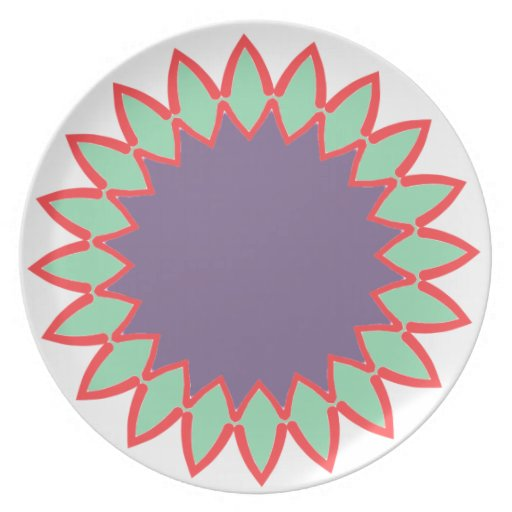 flora simple party plate