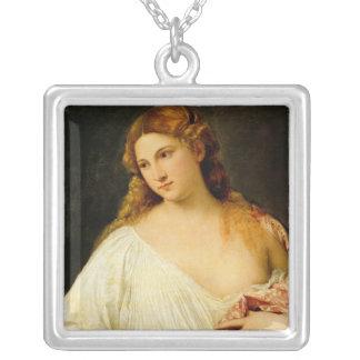 Flora Square Pendant Necklace