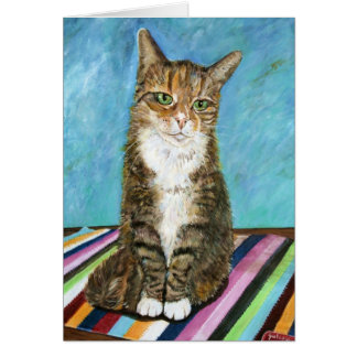 Flora the cat card