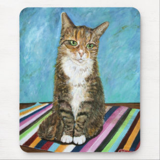 Flora the cat mouse pad
