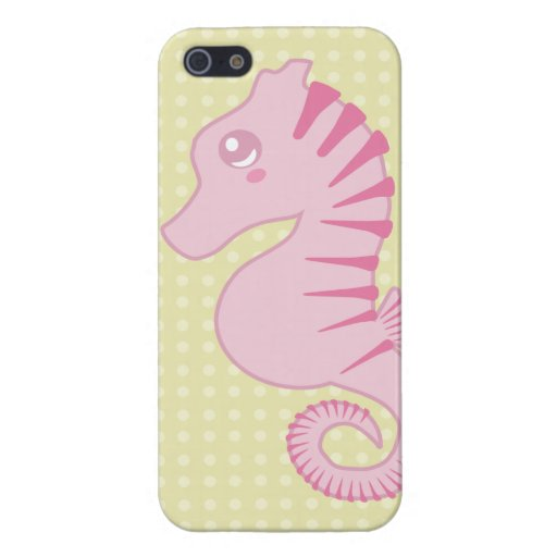Flora the Pink Seahorse iPhone Cover iPhone 5 Cover