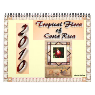 Flora tropical del calendario de Costa Rica
