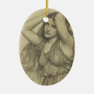 Flora with Long Hair Ceramic Ornament