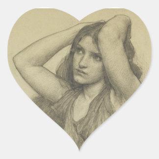 Flora with Long Hair Heart Sticker