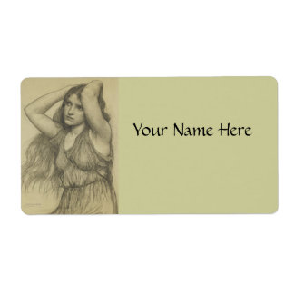 Flora with Long Hair Custom Shipping Label