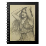 Flora with Long Hair Note Books