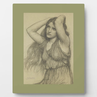 Flora with Long Hair Plaque