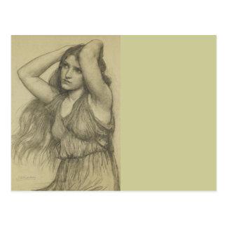 Flora with Long Hair Postcard