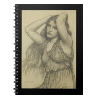 Flora with Long Hair Spiral Notebook