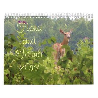 Flora y fauna 2013 calendarios de pared