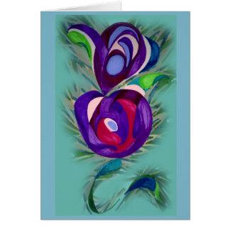 floración adentro tarjeta pequeña