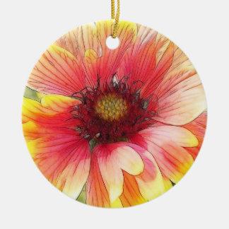 Floración alegre de la flor combinada ornamentos de navidad