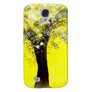 Floración árbol amarillo y blanco