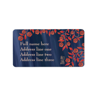 """Floración azul anaranjada """"unísono """" etiquetas de dirección"""