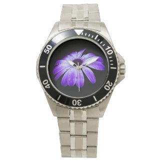 Floración azul relojes de pulsera