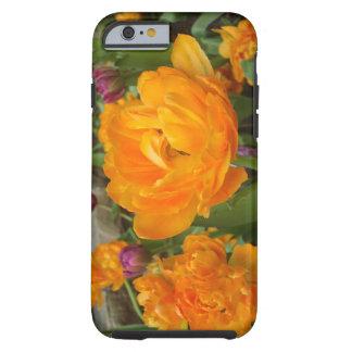 Floración caso duro del iPhone 6 anaranjados y Funda De iPhone 6 Tough