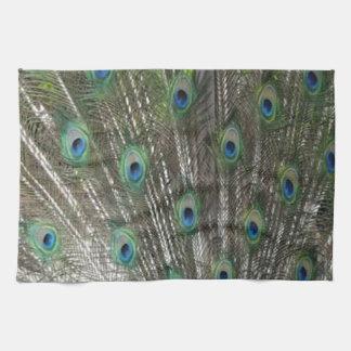 Floración completa del pavo real toallas
