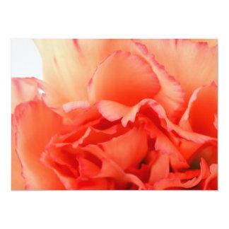 Floración coralina de la flor del clavel invitación 13,9 x 19,0 cm