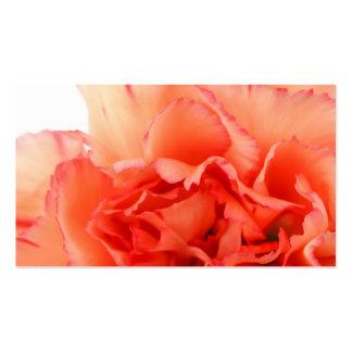 Floración coralina de la flor del clavel tarjeta personal