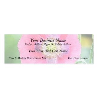 Floración de la amapola - Papaver - somniferum Tarjetas De Visita Mini