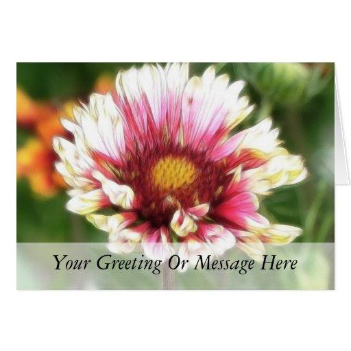 Floración de la flor combinada tarjetas