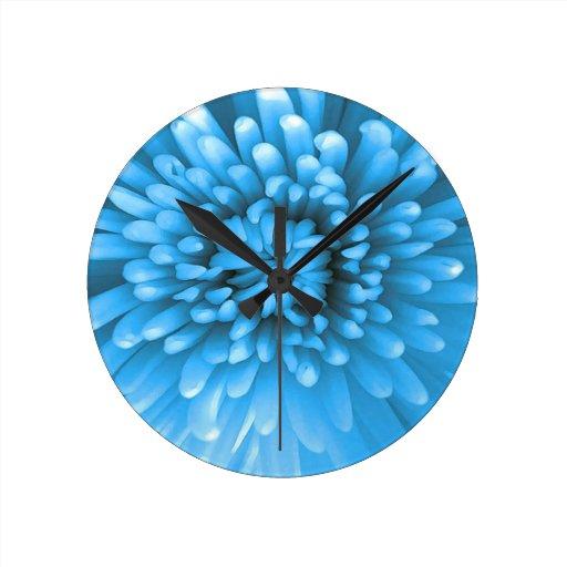 Floración de la flor reloj de pared