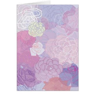 floración de la flor tarjeta de felicitación