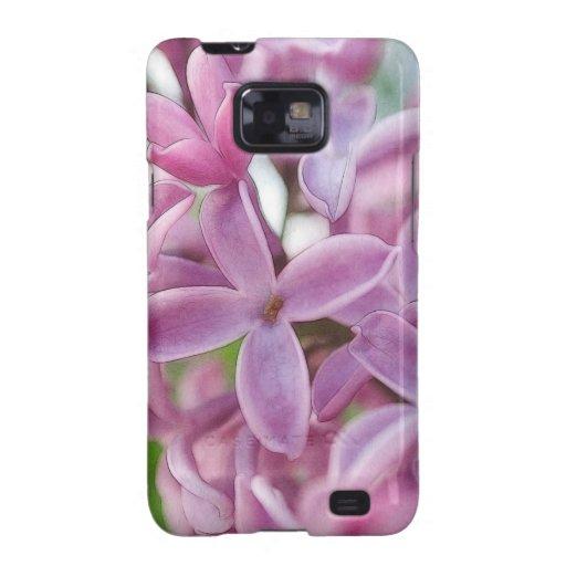 Floración de la lila en primavera temprana galaxy SII carcasas