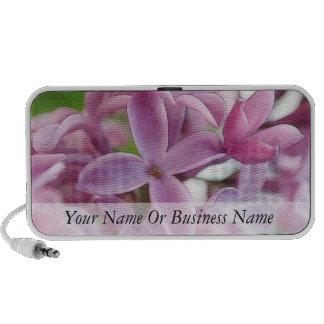 Floración de la lila en primavera temprana laptop altavoces