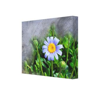 Floración de la margarita impresión en tela