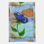 Floración de la mariposa toallas de mano