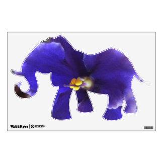 Floración de la violeta africana vinilo adhesivo