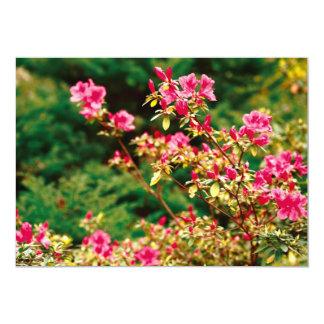 """Floración de las azaleas invitación 5"""" x 7"""""""