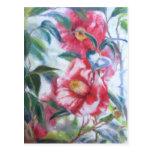 Floración de las flores postal