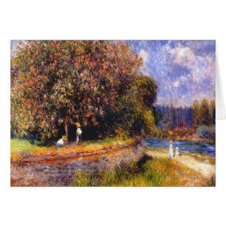 Floración del árbol de castaña tarjetas