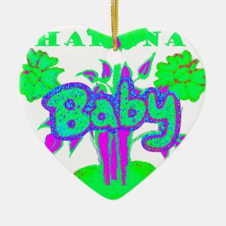 Floración del bebé de Hakuna Matata Adorno Navideño De Cerámica En Forma De Corazón