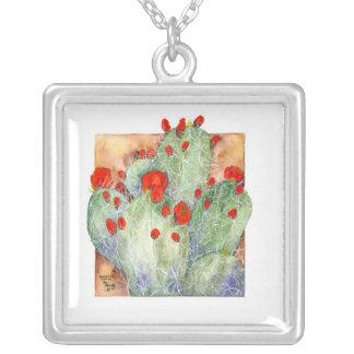 Floración del cactus colgante cuadrado
